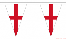 ENGLAND ST GEORGE TRIANGULAR BUNTING - 20 METRES 54 FLAGS